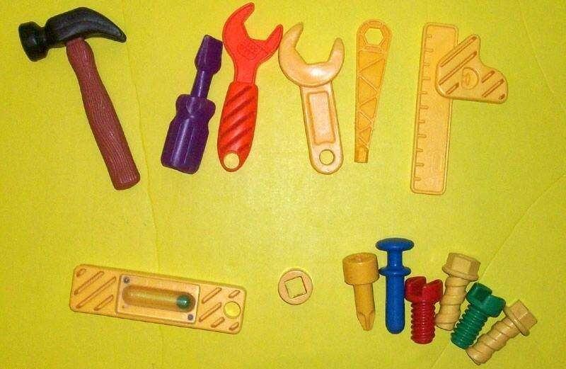 فلاش و لعبة بازل ادوات النجارة للاطفال