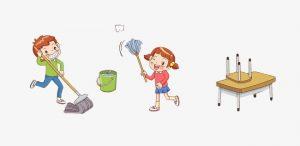 أطفال_ينظفون_المدرة