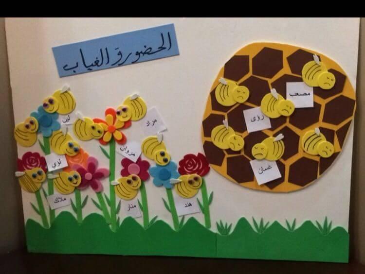لوحة _الغياب_والحضور _للأطفال