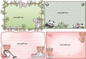 بطاقات لكتابة الاسماء لرياض الاطفال